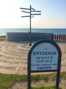 Sveriges sydligaste udde. Mål, bra jobbat!